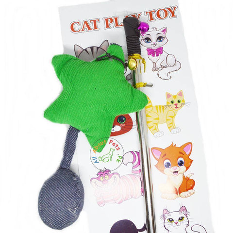 Image of Cat Teaser Toys green shooting star available in Pakistan at allaboutpets.pk