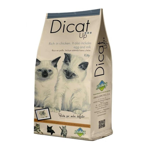 Dibaq Dicat Up Kitty 1.5 Kg, Food for kittens from the age of 1 to 12 months of life and feeding and pregnant females, including complete post-delivery recovery available at allaboutpets.pk in pakistan