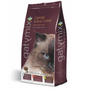 Dibaq Gatymix Castrated & Renal Control 1.5 Kg, A food for neutered cats and cats who need care of their urinary tract with a reduced calcium and magnesium content available at allaboutpets.pk in pakistan