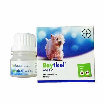BAYER BAYTICOL 6% EC. For Dog Remove Flea Treatment Control Tick Remedies 10 ml available at allaboutpets.pk in pakistan