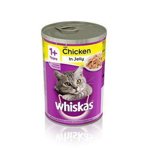 Whiskas Chicken in Jelly 390g, cat wet food available at allaboutpets.pk in pakistan.