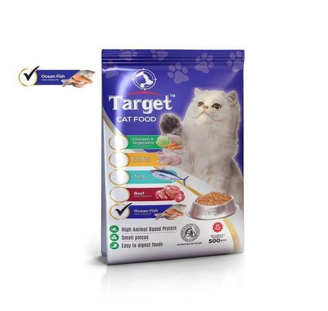 target cat food ocean fish 500g, persian cat food available at allboutpets.pk in pakistan