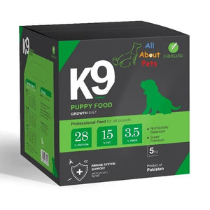 K9 puppy food, maxi starter, puppy starter Food, german shepherd food, rottweiler food, shihtzu food, pug food, Labrador food 5kg, product of farmland available at allaboutpets.pk  in pakistan.