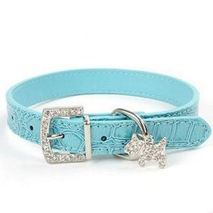 Crystal Bling Pet Pendant Collar Small