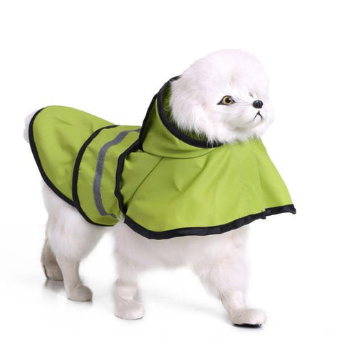 Image of Small Dog Waterproof Raincoat Lightweight Rain Jacket Poncho with Reflective Strip High visibility for Teddy, Pug, Chihuahua, Shih Tzu available at allaboutpets.pk in Pakistan.