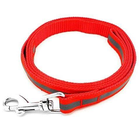 Image of Smart Way Collar & Leash Reflective Strip red color available at allaboutpets.pk