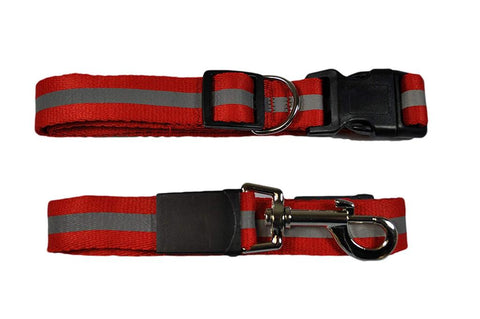 Image of Smart Way Collar & Leash Reflective Strip red color available at allaboutpets.pk in pakistan.
