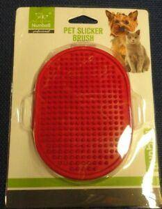 Image of Pet Slicker Brush Oval red color for cats and dogs available at allaboutpets.pk in pakistan.