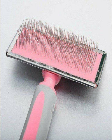 GOLDPETS Slicker Brush pink color For Cats & Dogs available at allaboutpets.pk in pakistan.