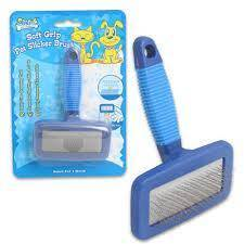 Grooming Brush for Cats & Dogs - Small pet brush blue color at allaboutpets.pk in pakistan.