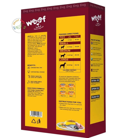 Image of Woof Dog Food Be Happy Pet 500g, product of seasons, menu dog food available at allaboutpets.pk in pakistan.