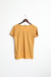 Whale tee (Women's mustard yellow)
