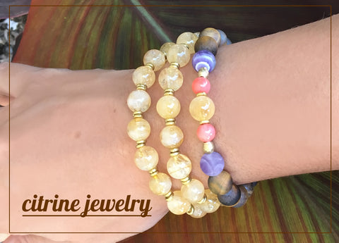 citrine yoga jewelry