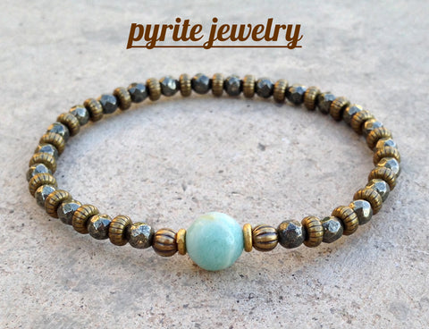 pyrite yoga inspired jewelry
