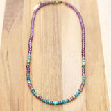 Apatite and Amethyst Delicate Gemstone Necklace
