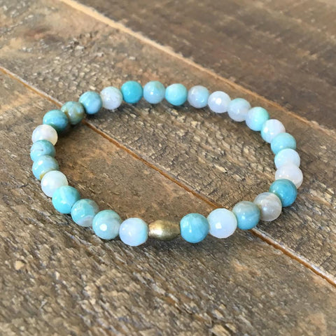 Aqua agate 'Mermaid' bracelet