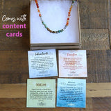 Carnelian and African Turquoise Delicate Necklace with Content Cards