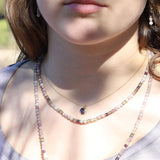 Delicate Raw Amethyst Pendant Necklace