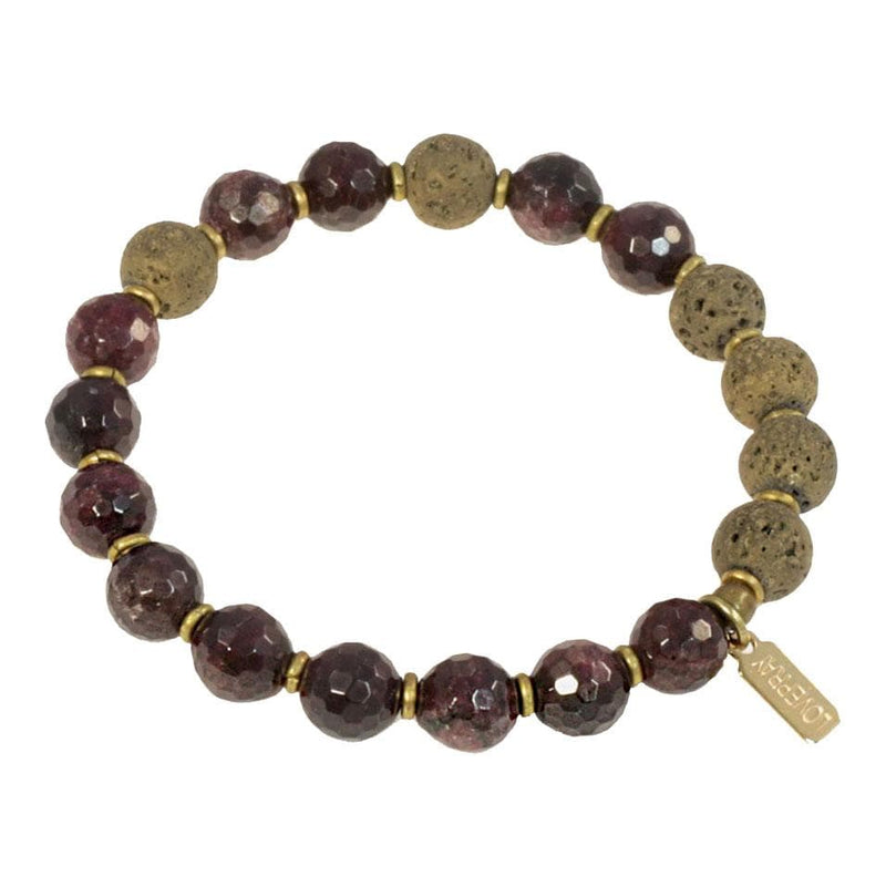 """Passion"" Garnet Essential Oil Diffuser Bracelet"