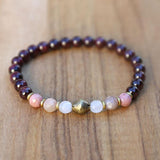 Garnet and Love Gemstones Bracelet