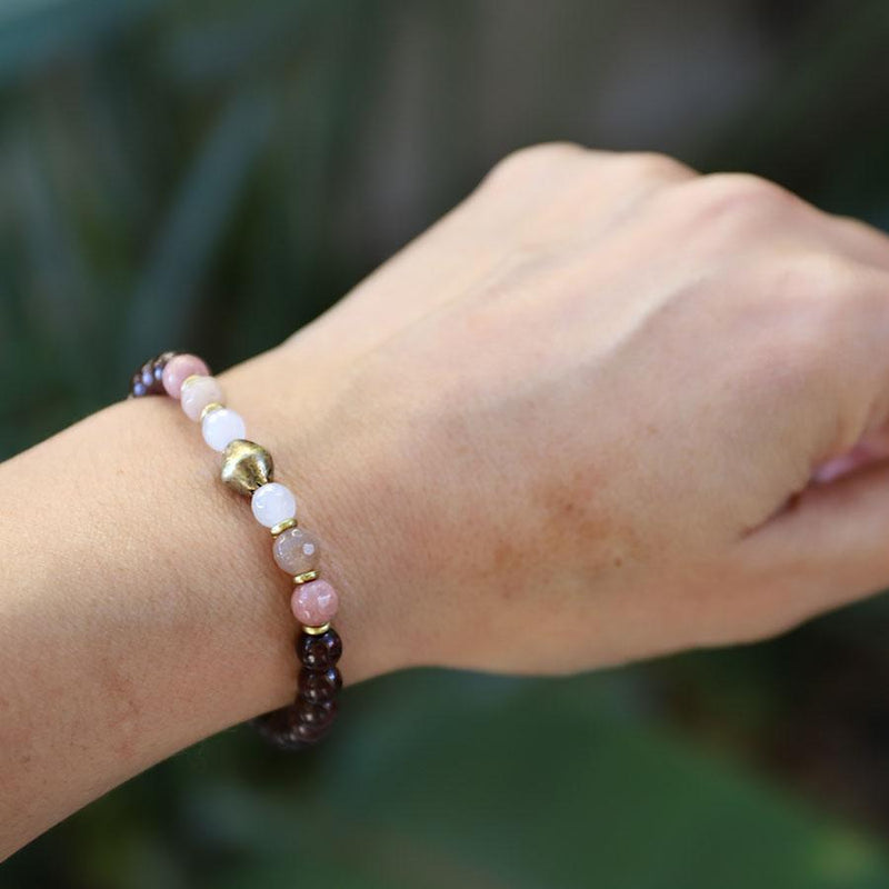 love gemstones beaded bracelet