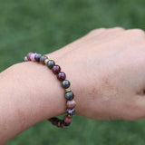 Garnet and Rhodonite Bracelet
