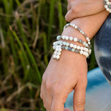 Products Howlite Amazonite and Labradorite 54 Bead Mala Bracelet