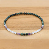 Kambaba Jasper and Moonstone Anklet