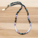 Kambaba Jasper and Moonstone Delicate Necklace