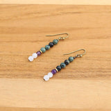 Kambaba Jasper and Moonstone Earrings