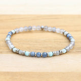 Kyanite Quartz and Amazonite Delicate Bracelet