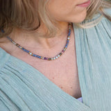 Kyanite Fluorite and Amazonite Delicate Necklace
