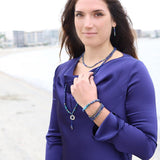 """Intuition and Gratitude"" Lapis Lazuli and Pyrite Delicate Bracelet Set"