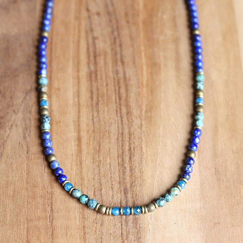 Lapis Lazuli and African Turquoise Delicate Necklace