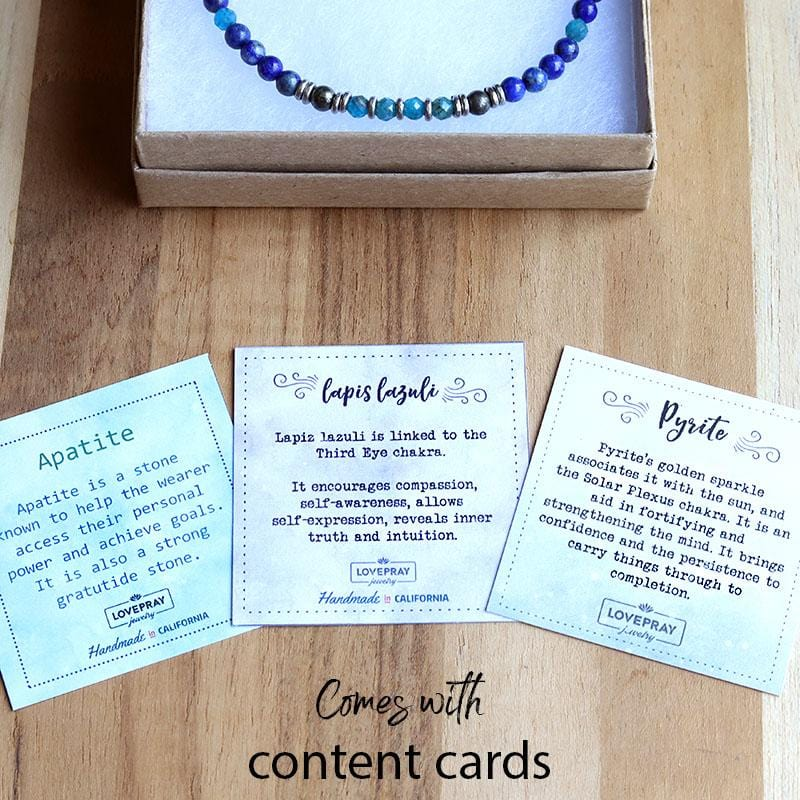Lapis Lazuli and Apatite Delicate Anklet