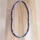 Lapis Lazuli and Apatite Delicate Necklace