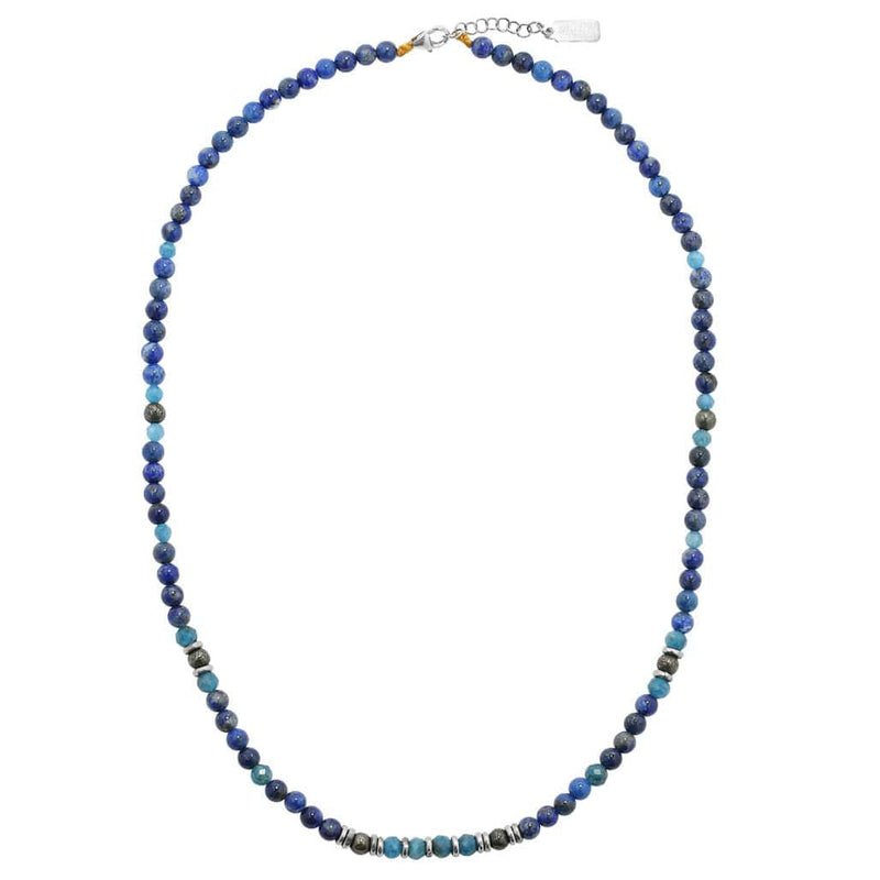 """Intuition and Gratitude"" Lapis Lazuli and Apatite Delicate Necklace"