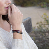 Larvkite and Garnet Bracelets Lifestyle
