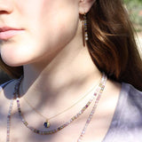 Lepidolite and Labradorite Delicate Necklace