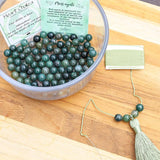 Moss Agate Mala Necklace Kit