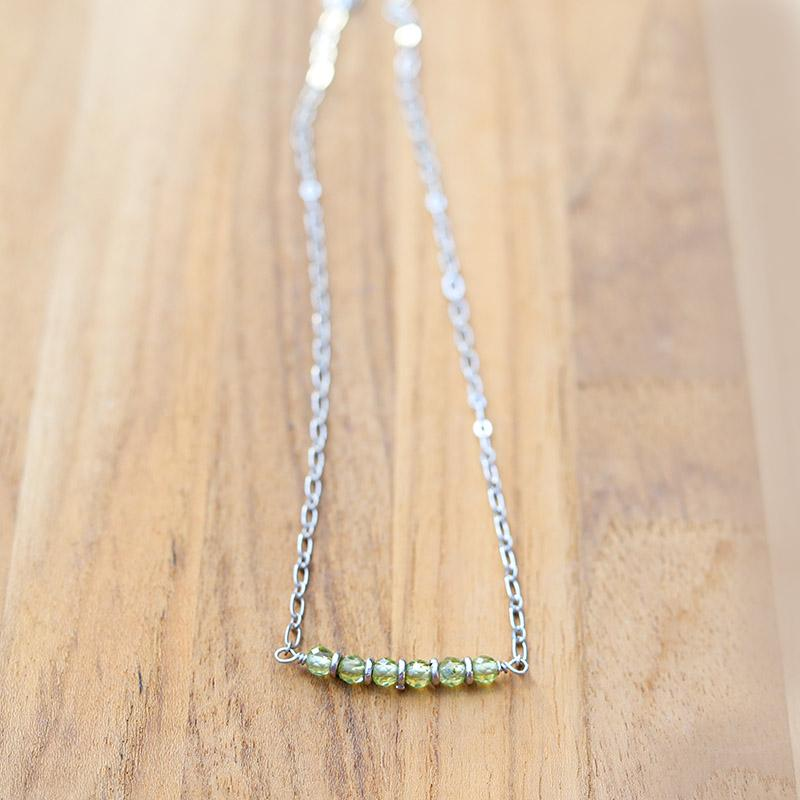 Peridot Chain Necklace