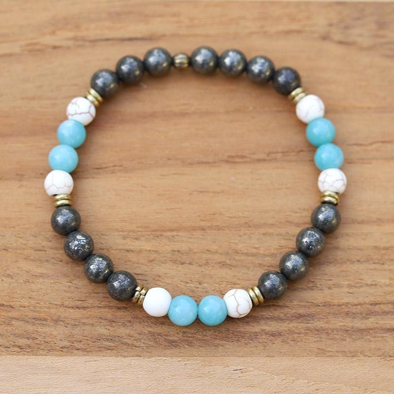 Pyrite and Amazonite Bracelet