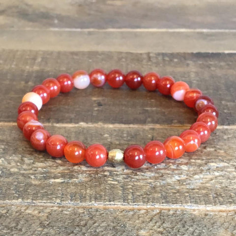 Red agate 'Energy' bracelet