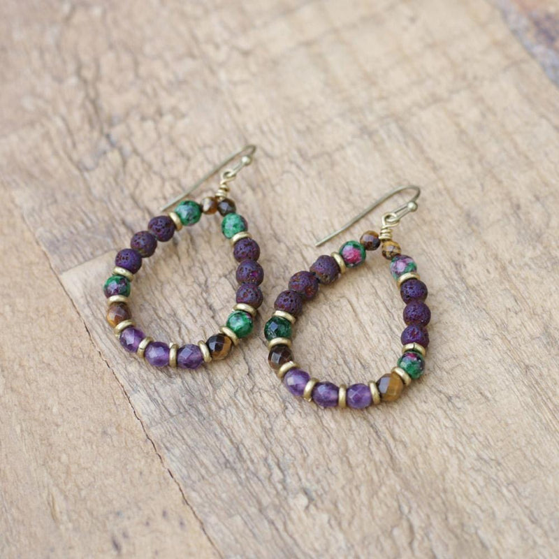Ruby in Zoisite Aromatherapy Earrings