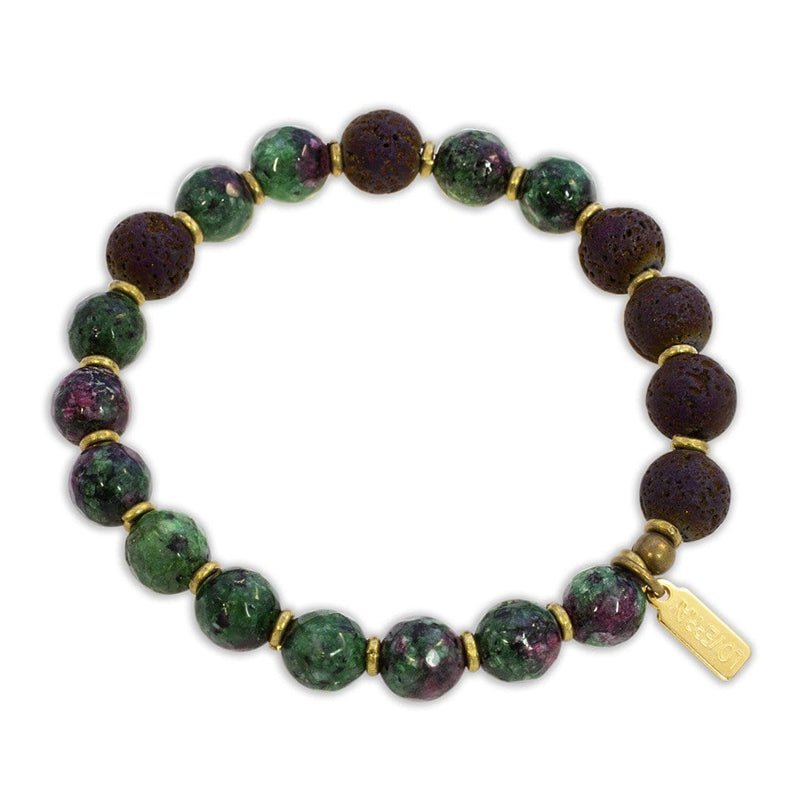 """Energy"" Ruby in Zoisite Essential Oil Bracelet"