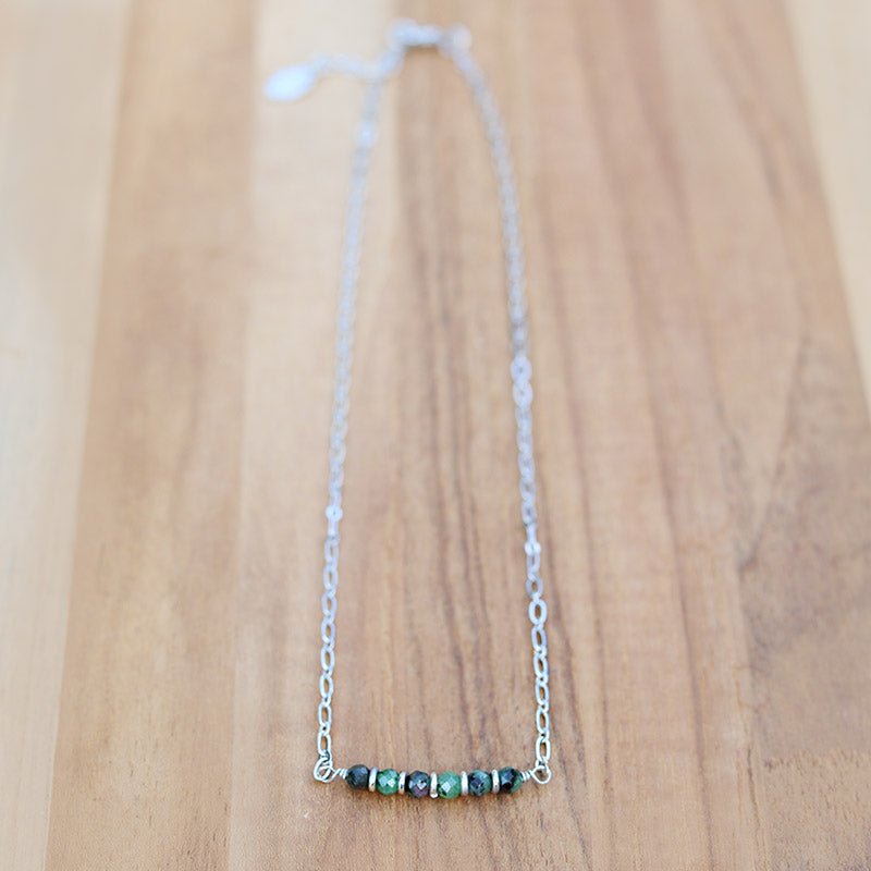 Ruby in Zoisite Chain Necklace
