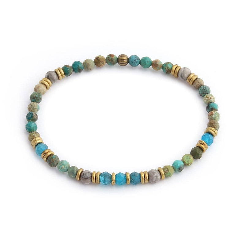 Turquoise Jasper and Apatite Delicate Bracelet