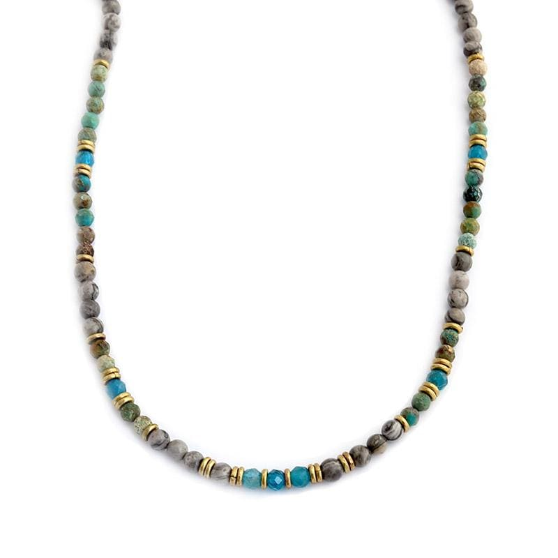 Turquoise and Jasper Delicate Necklace