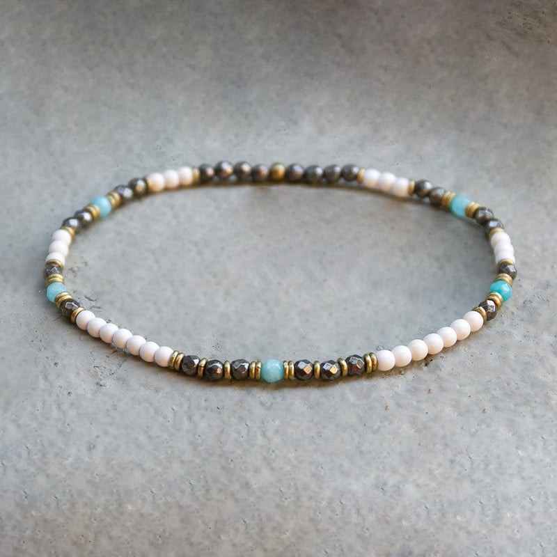Anklets - Howlite, Pyrite, And Amazonite Anklet