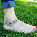 Anklets - Rose Quartz And Amazonite Anklet